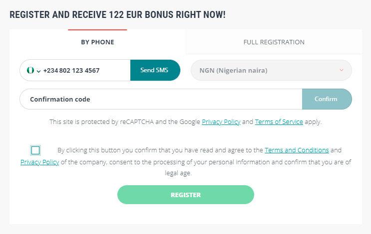 22bet registration